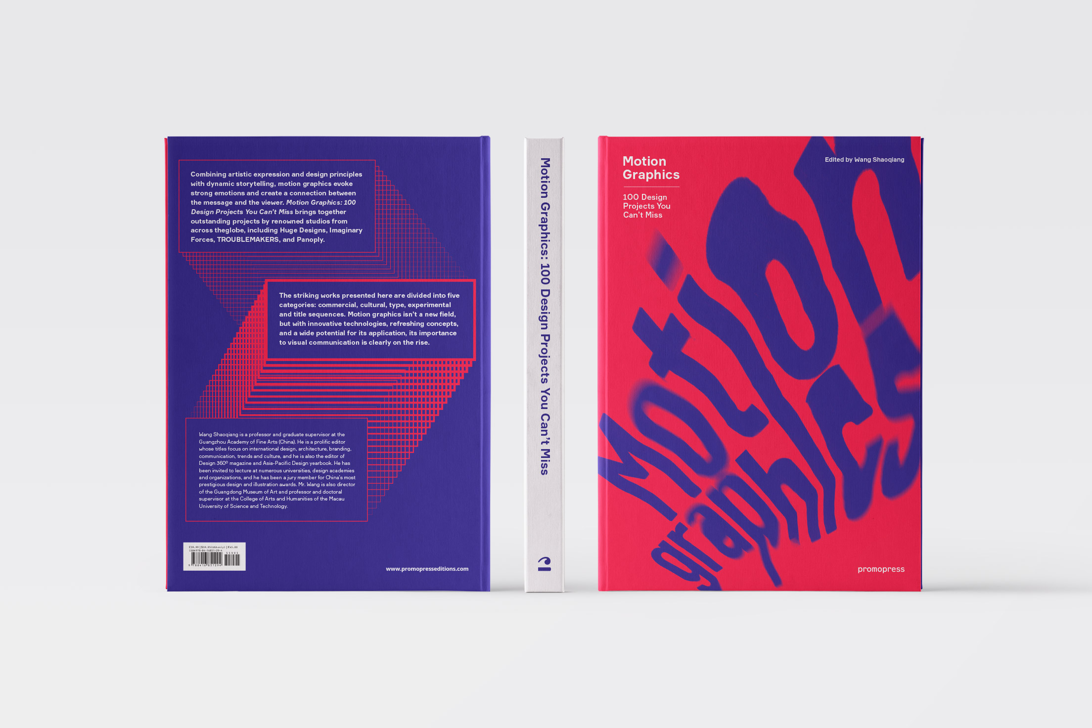 "Diseño de portada del libro ""Motion graphics"" de la editorial Promopress"