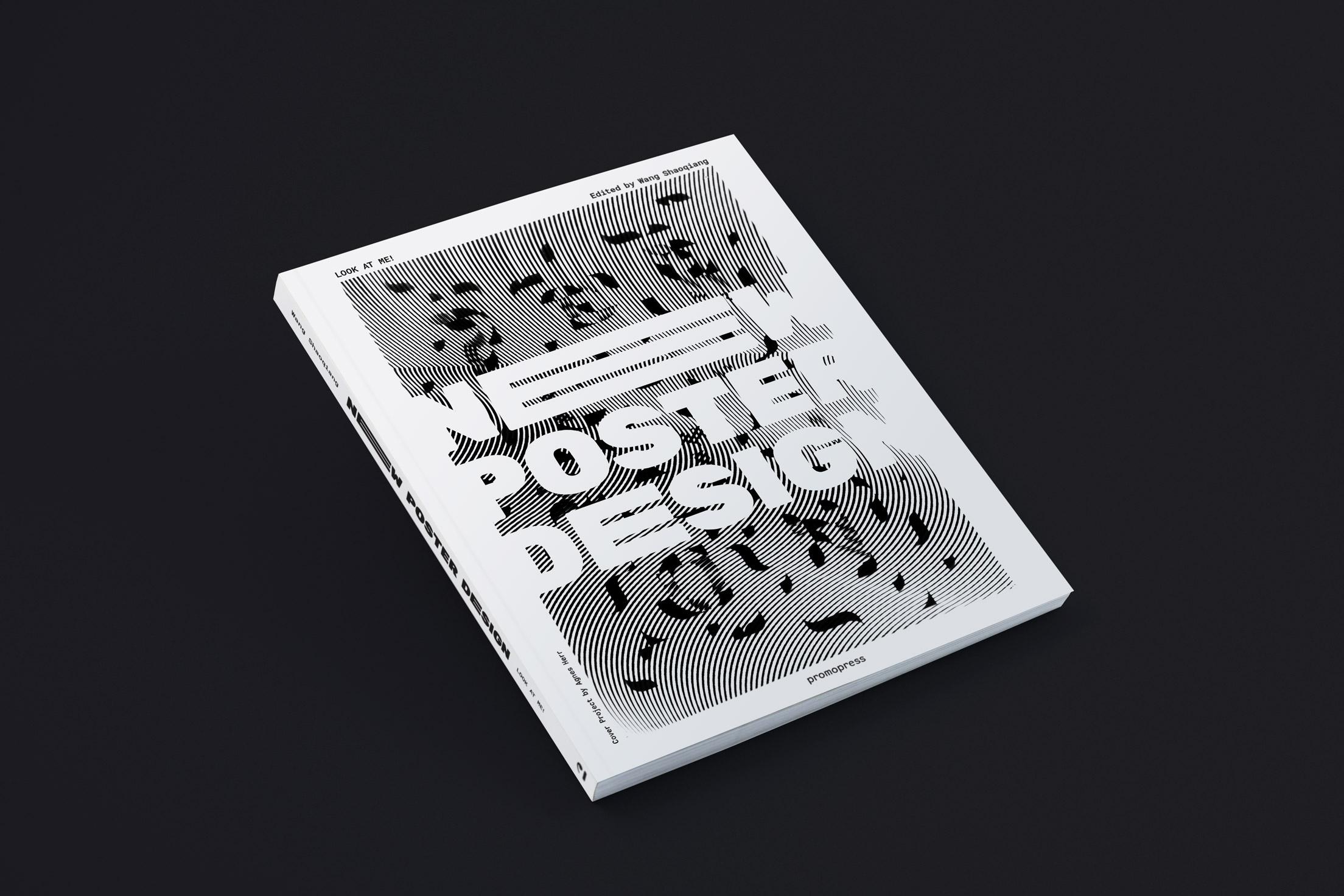 """Diseño de portada del libro """"New poster design"""" de la editorial Promopress"""