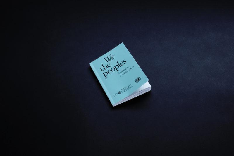 """Diseño de portada del informe """"We the peoples"""""""