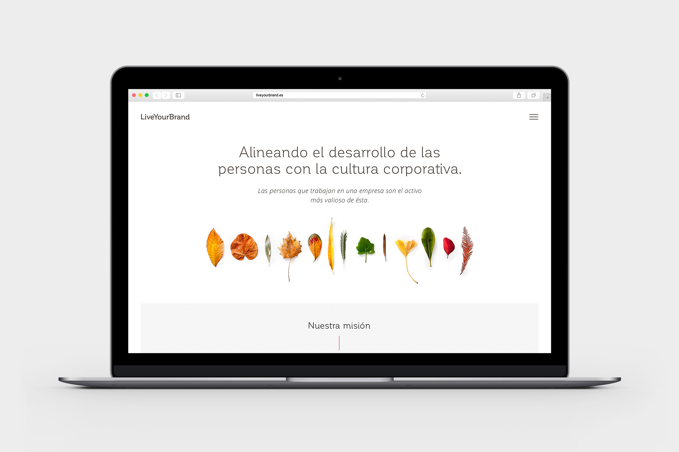 "Diseño de web home para ""Live Your Brand"""