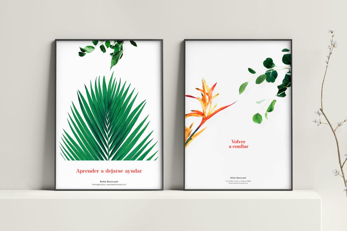 Diseño de carteles para la psicóloga Belén Fioravanti
