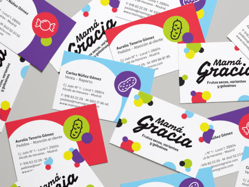 """Diseño de tarjetas de visita para """"Mamá Gracia"""""""