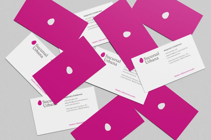 Diseño de tarjetas de visita de Sucursal Urbana